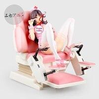 22cm Japanese sexy anime figure Native Saitom Nurse Momoi Figure Examination Chair Ver.Scale PVC Sexy Figure Model