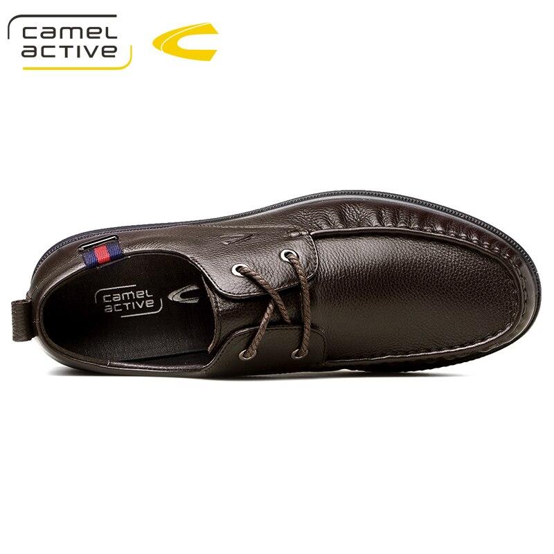 Homme Camel Mocassins Véritable marron Chaussures Noir De Hommes Nouvelle Automne Chaussure En Occasionnels Souple Confortables Main Cuir Active eWD9YH2EI