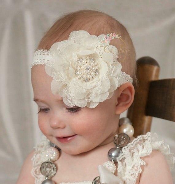 fashion girl flower with alloy button headband newborn kids hair flower band kids hair accessories