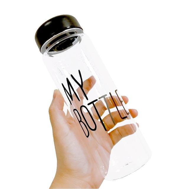 500ml My Bottle Water Bottle Protein Shaker Bardak Flask Sports Drink Bottles Black Green Pink Yellow White 5 colors
