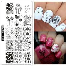 Премиум ногтей штамповки Таблички zjoy01 Дизайн ногтей шаблон печати Инструмент штамп переноса изображения Маникюр Одуванчик цветы он Книги по искусству S Любовь