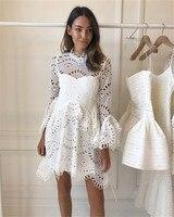 2018 New arrive white/ black Lace Dresses