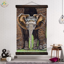 Endangered Species of Africa Modern Wall Art Print Pop Picture And Poster Frame Scroll Canvas Painting Canvas Poster Mom and me