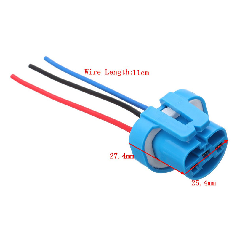 2pcs 9007 9004 female wire connector wiring harness pigtail plug rh aliexpress com Electrical Outlet Wiring Diagram Pigtail Wiring Harness
