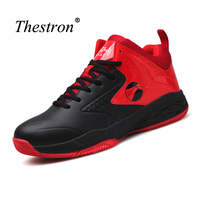 Thestron Basketball Shoes Boys Blue Red Jump Man Shoes Hard Wearing Mans Sports Shoes Super Cool