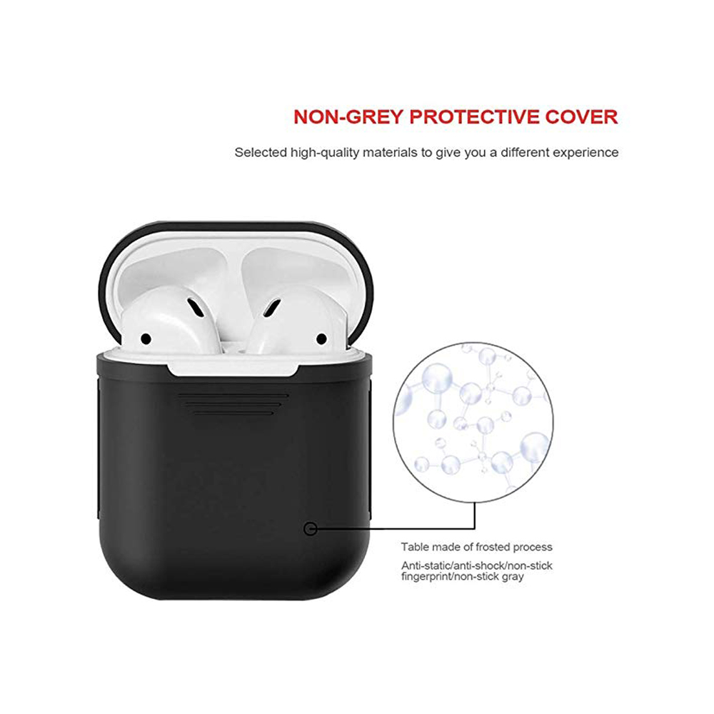 Image 5 - Earphone Case For Apple AirPods 2 Silicone Cover Wireless Bluetooth Headphone Air Pods Pouch Protective For AirPod Silm Case-in Earphone Accessories from Consumer Electronics