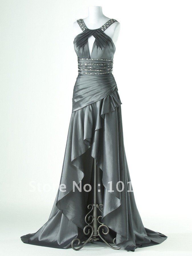 2013 New Arrival Elegant  Backless Long Side Cut-outs Prom Dresses