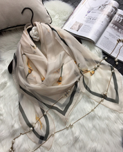 Woman s Silk Scarf Length 53 135cm Shawl Calla Lily Flower Printing Pattern Occident Scarf Autumn