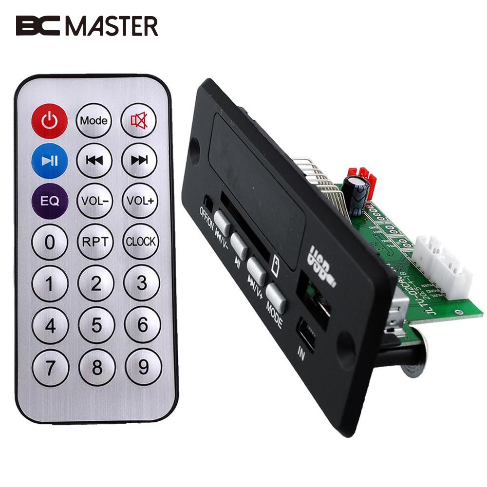 BCMaster Black Mini Remote Control USB SD Card FM RS-MMC MP3 Audio Player Decoding Board Module DC5V-12V DIY матрас lineaflex polly 80x160