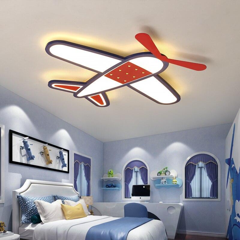 Cartoon plane Led Ceiling Lights Modern Children Ceiling Lamp for Bedroom Dining Room Home Indoor Lighting Decoration Fixture