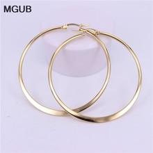 Female Earrings 15mm Stainless-Steel MGUB Simple 50mm 70mm 20mm 40mm 30mm Popular 60mm
