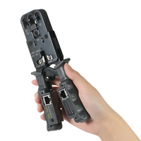 Multi Functional LED Detachable Cable Crimping Tool Wire Cutter Stripper RJ11 RJ12 RJ45 Wire Tester Network