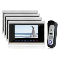 YSECU Video Doorbell Camera Intercom Monitor 7 Inch Touch Screen 1V4 SD Card Support Dual Way