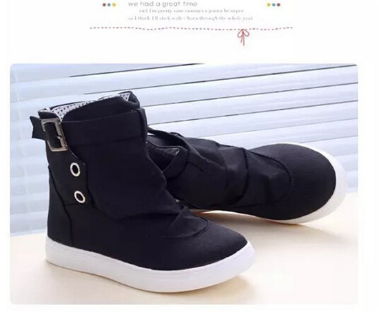 Fashion Women's High top Buckle Shoes