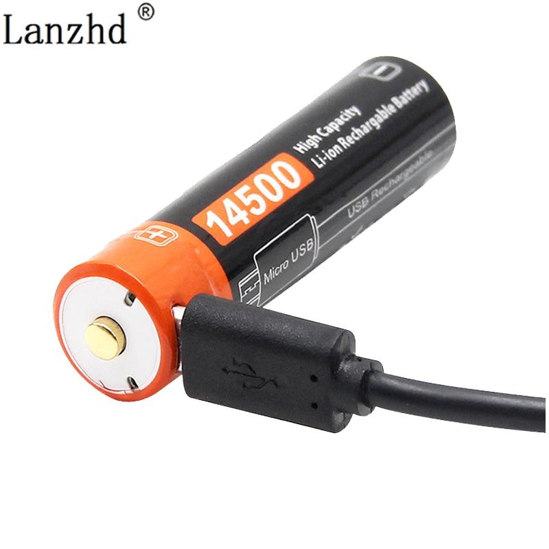 ICR14500 14500 750mAh 3,7 v перезаряжаемые литий ионные батареи светодиодный фонарик плоский Топ батарея Перезаряжаемые батареи      АлиЭкспресс