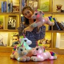 new arrival 45cm unicorn plush light up toys stuffed LED lighted animal doll illuminated plush toys for children birthday gift