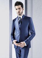2017 последние пальто брюки Дизайн итальянский Темно синие Атлас мужской костюм Стиль Костюмы Slim Fit 3 предмета смокинг Пром заказ жениха Блейз