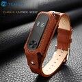 Banda 2 pulseira pulseira miband xiaomi mi 2 com pulseira de couro colorido substituição pulseira banda inteligente banda acessórios para xiaomi 2
