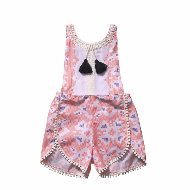8d9c7e005e38 2017 summer fashion Adorable Toddler Baby Girl Floral Romper Cotton  Sleeveless Jumpsuit Summer Sunsuit One-Pieces Clothes
