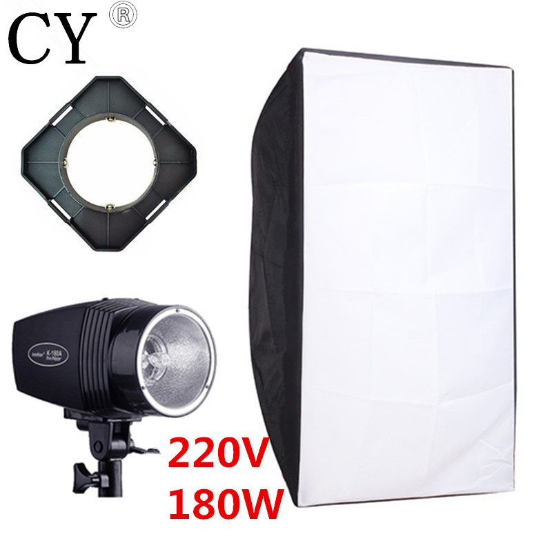 Godox K-180A Photography Softbox Flash Lighting Kits 180ws 220V Flash Light+Lightbox+Universal Mount Photo Studio Accessories