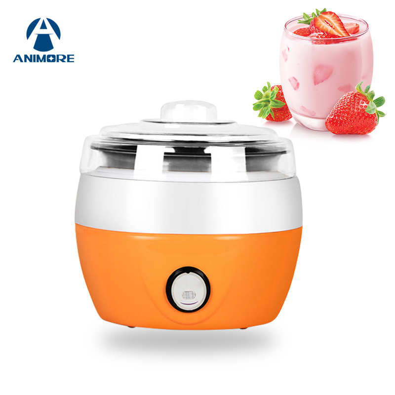 ANIMORE Electric Yogurt Maker Yoghurt DIY Tool Kitchen Appliances Automatic Plastic or Stainless Steel Liner Yogurt Maker YM-01