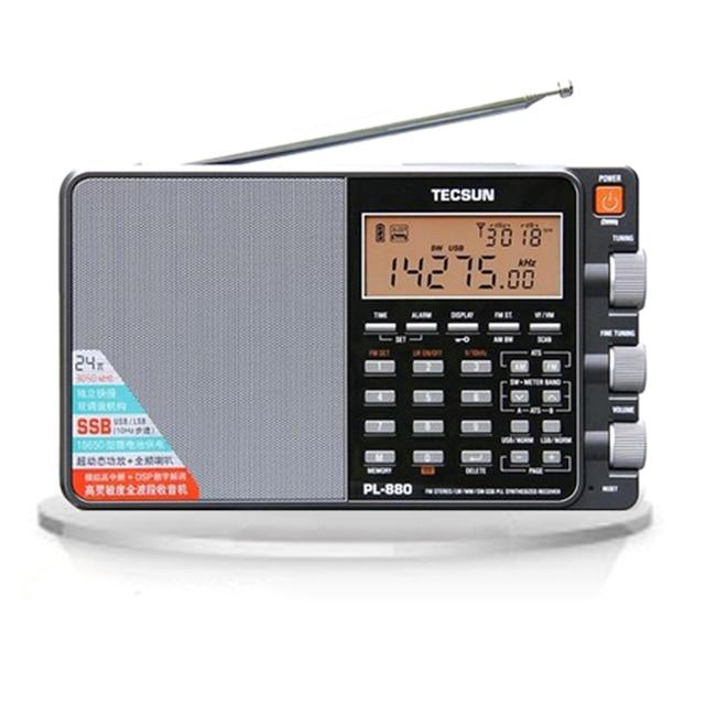 Tecsun/Desheng PL 880 Radio stéréo de réglage numérique portable pleine bande haute Performance avec Mode LW/SW/MW SSB PLL FM (64 108 mHz)