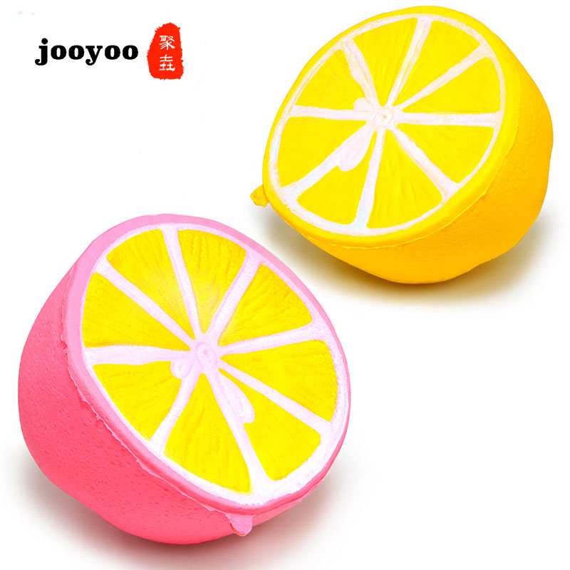 10cm Squishy Anti Stress Toys Lemon Lime Stress Relief Toy Scented Slow Ricing Squeeze Decompression Toys Kids Fun Gift  Jooyoo