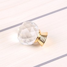 CLEAR DIAMOND KNOBS FURNITURE HANDLE GLASS KNOB CRYSTAL KNOB CABINET KNOBS ON GOLD BASE