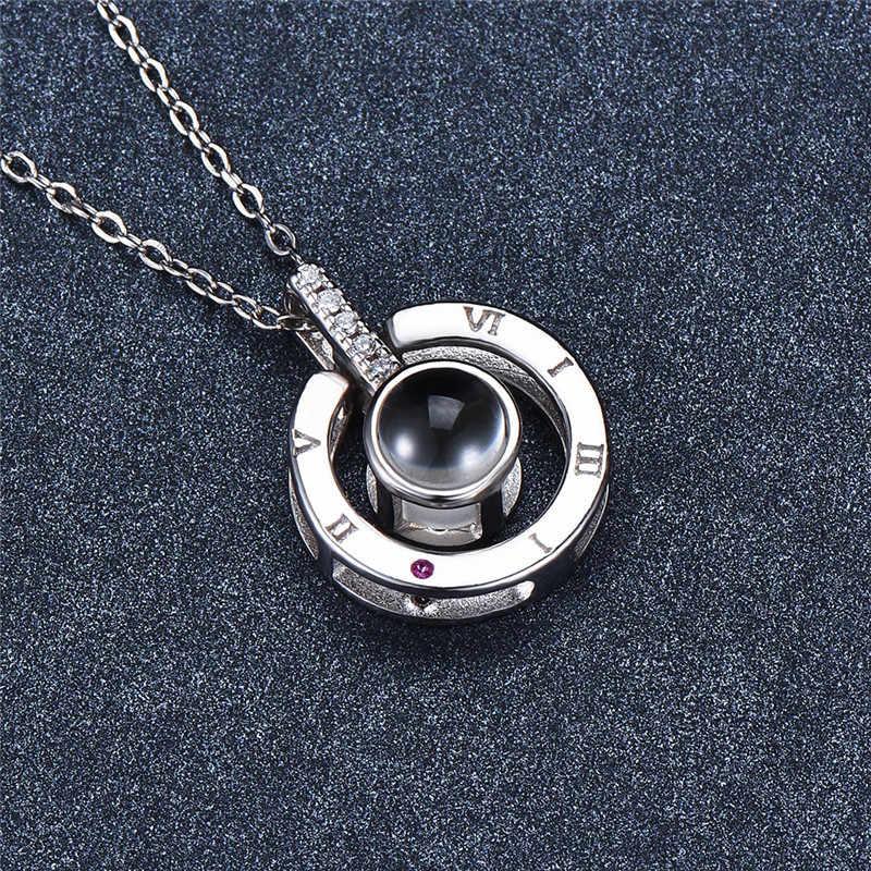 Mignon femme petit I Love You lettre pendentifs colliers de mode colliers de mariage pour les femmes de luxe 925 colliers en argent Sterling