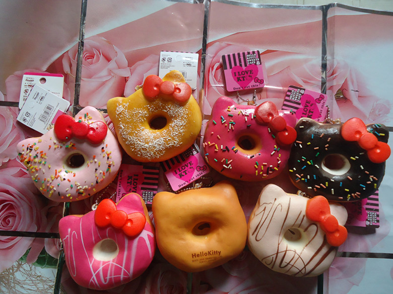 Sanrio Hello Kitty Squishy Jumbo Donut : Aliexpress.com : Buy 20pcs 10cm Jumbo hello kitty donut squishy with tags from Reliable squishy ...