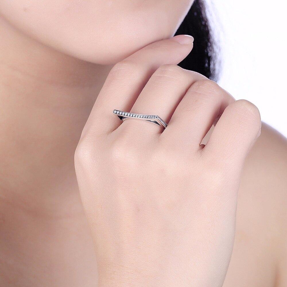 GNIMEGIL Trendy Design Hot Sale Colorful CZ Silver Rings Real 925 ...