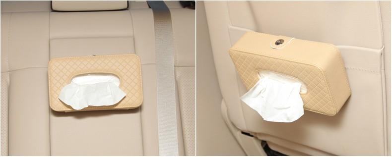 Microfiber Leather Square Tissue Box Holder Rectangular Car Tissue Box Cover Case For Car Seat/Sun Visor/Sunroof Decorative 13