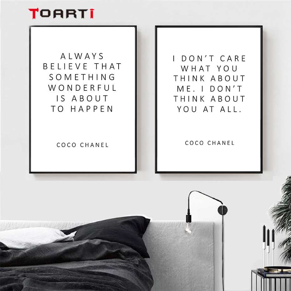 CoCo Motivational Quotes Posters Prints Always Believe That Inspirational Letters Canvas Painting For Women Bedroom Home Decor (5)