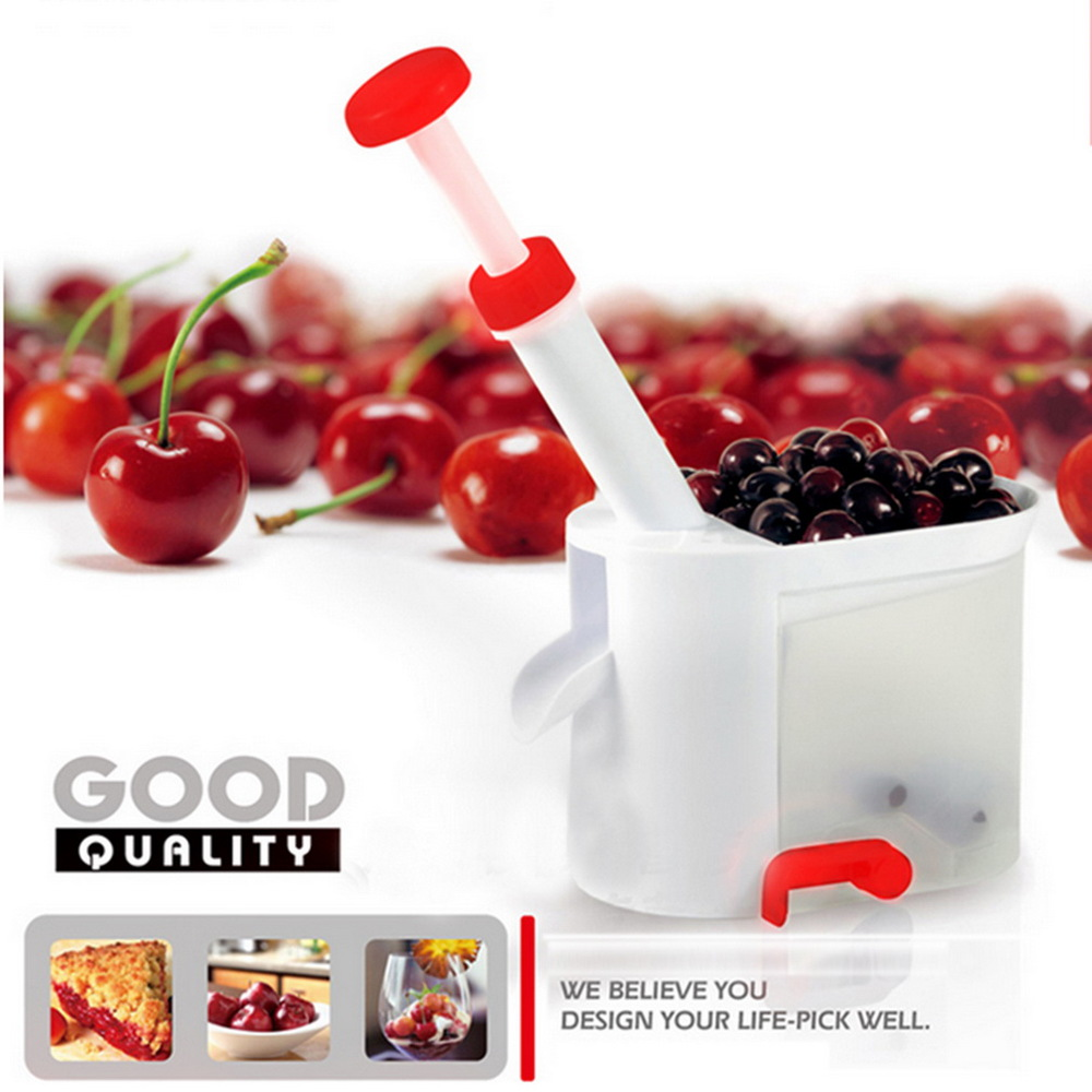 1Set Novelty Super Cherry Pitter Stone Corer Remover Machine Cherry Corer With C