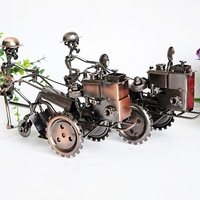 Diecast Toy Vehicles Vintage Chinese Metal Walking Tractor Model American Modern Style Boys Toys A Good Hobby Gift For Familys