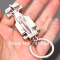 Drawing Slivery Loops Keyring Keychain Car Key Chain Ring Key Fob Pants Buckle Clip on Belt