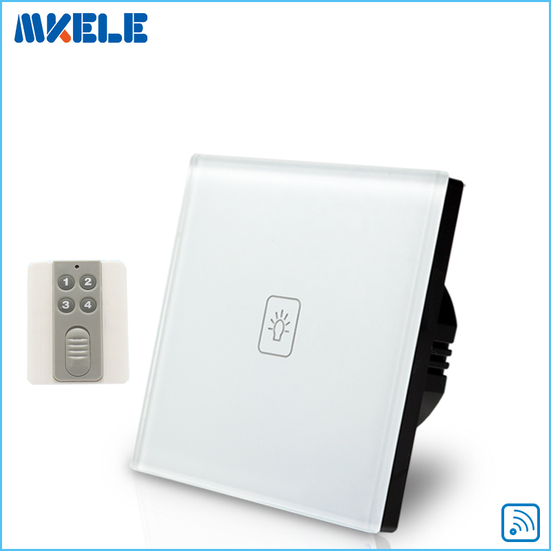 New Arrivals Touch Wall Switch EU Standard 1 Gang 1way RF Remote Control Light Crystal Glass Panel new arrivals remote touch wall switch uk standard 1 gang 1way rf control light crystal glass panel china