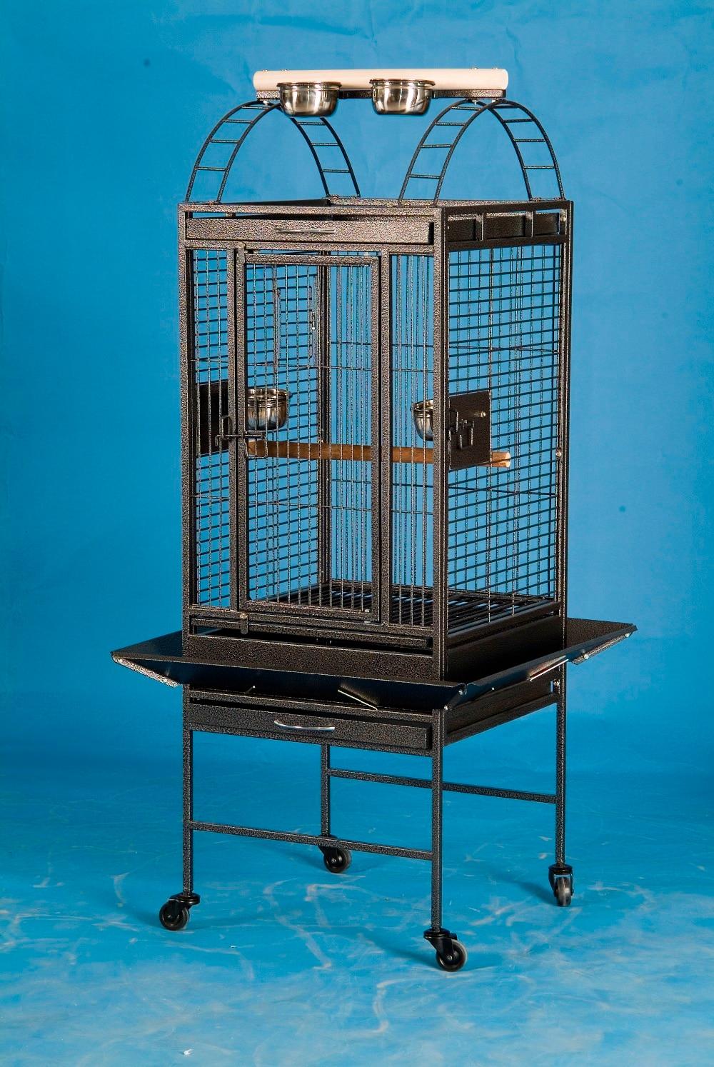 Бесплатная доставка в США большой попугай Ара Канарские Finch клетка для разведения птиц черная вены B62X