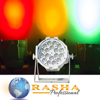 (Pack of 2)Rasha Hex V18 Par Can With Wireles LED Par Light 18*18W 6IN1 RGBAW UV WIFI LED Par Projector Stage Light