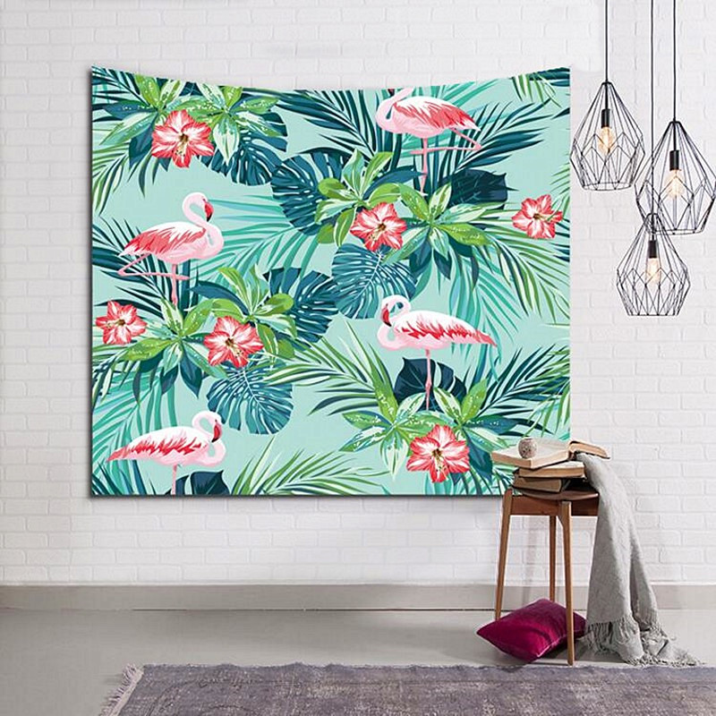 10 style Flamingo pattern Living room bedroom decoration tapestry Beach towel High Quality Does Not Fade Free Shipping w3-8
