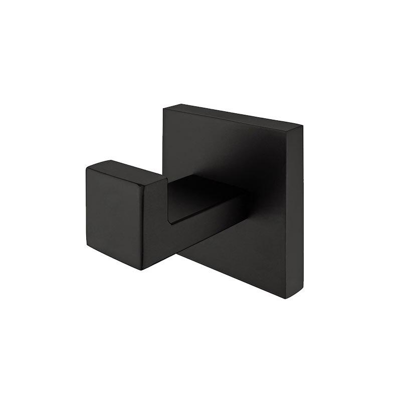 auswind de pintura negro de acero inoxidable gancho de la toalla montado en la pared percha
