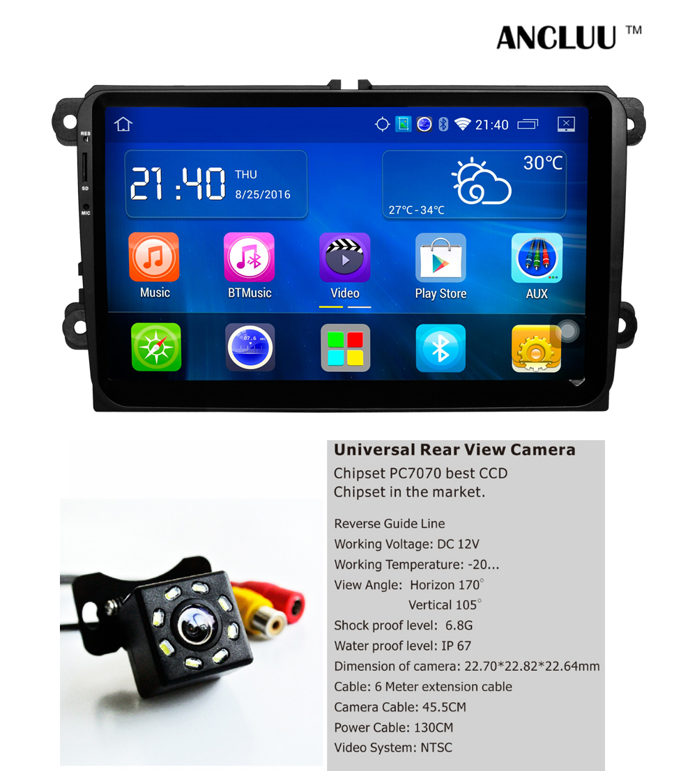 9 &#171;Android-Quad Core автомобиль DVD для <font><b>vw</b></font> passat гольф MK5 MK6 Jetta поло Touran Sharan автомобилей Радио Стерео Navi <font><b>Bluetooth</b></font> Зеркало Ссылка