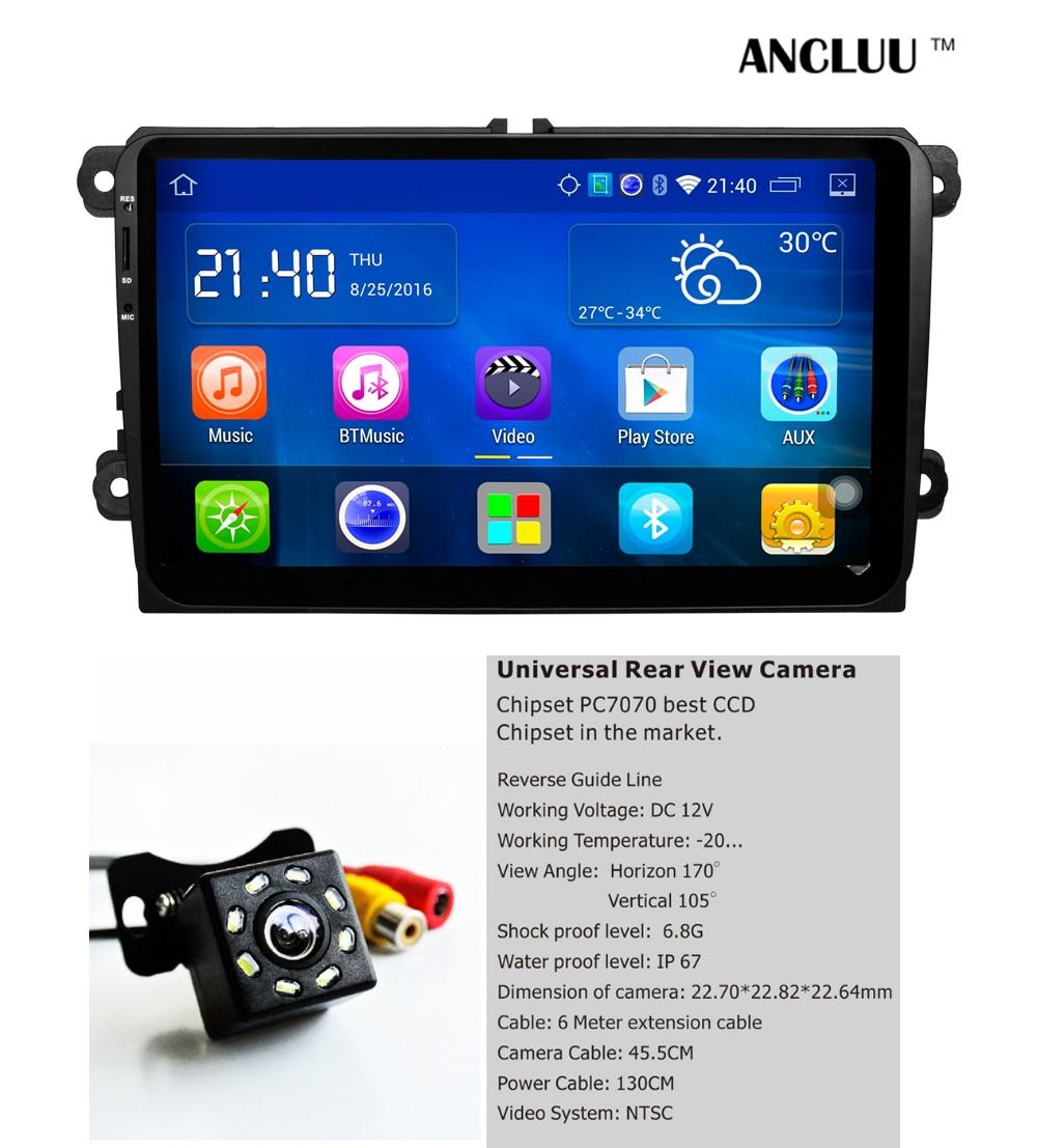 9&#8243; Android Quad Core Car DVD For VW Passat Golf MK5 MK6 Jetta Polo Touran Sharan Car Radio stereo Navi <font><b>bluetooth</b></font> mirror link