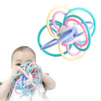 0-12 Months Newborn Baby Development Ball Safe Soft Teething Toys Plastic Hand Bell Early Educational Rattle Teether Baby Toys