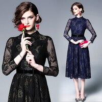Make spot spring bud silk dress new long sleeve posed dress show thin waist