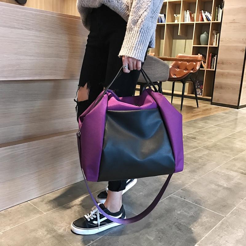 Large Capacity Women Beach Bags Shoulder Mummy Handbag WaterProof Nylon Folding Tote Long Large Capacious Shopping Bags 34
