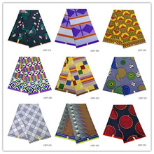 Ankara African Real Wax Print Fabric 6 Yards/Pc Hot Veritale 100% Polyester 1307-171