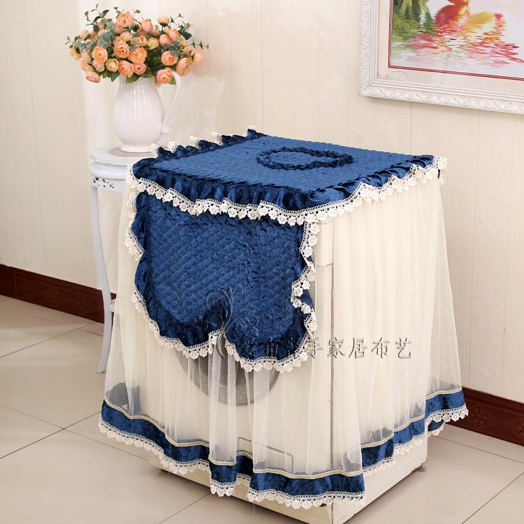 2016 New Romantic Flowers lace Washing Machine Cover 55*60*80CM Waterproof Dustproof protector Wedding Home Textile image