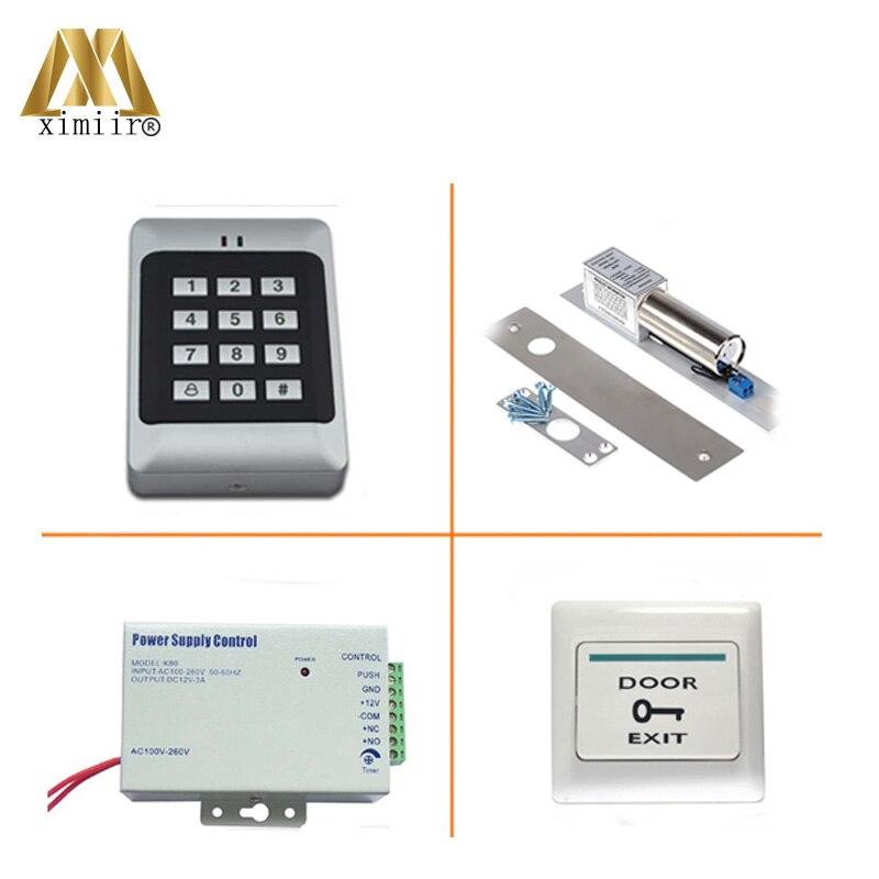 RFID Reader Deur Access Control Met Toetsenbord Enkele Deur Toegangscontrole Systeem Met Elektromagnetische Slot Voeding Standalone - 6