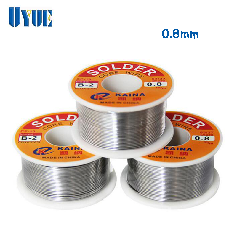 UYUE Soldering Wire Welding Iron Wire Reel 0.8mm 63/37 Tin Lead Line Rosin Core Flux Solder Soldering 30  цены